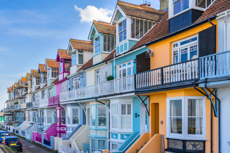 Colourful houses, Whitstable